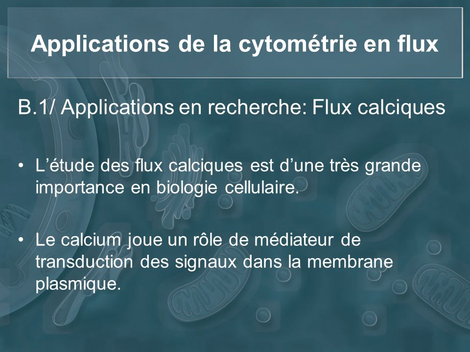 Applications de la cytométrie en flux