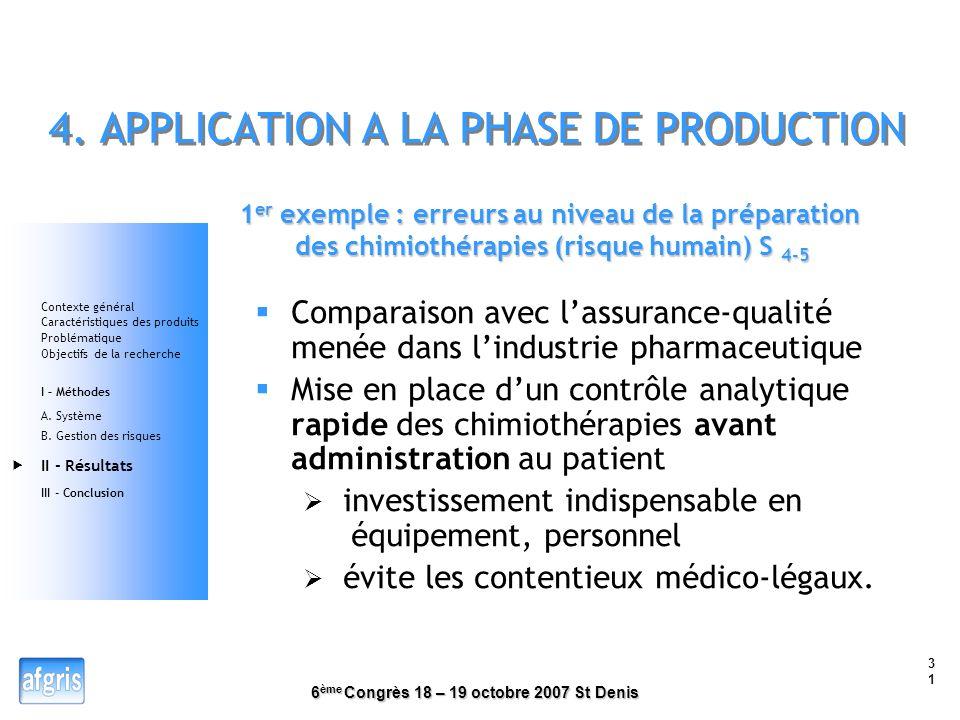 4. APPLICATION A LA PHASE DE PRODUCTION