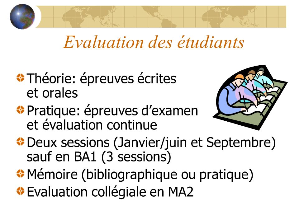 Evaluation des étudiants