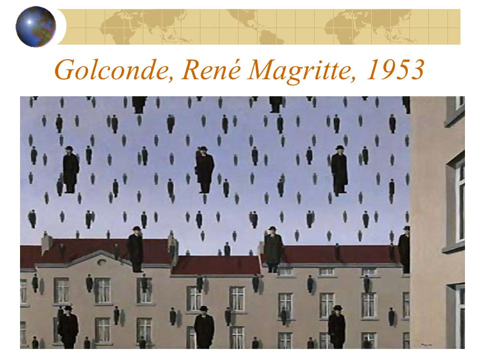 Golconde, René Magritte, 1953