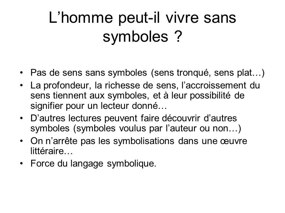L'homme peut-il vivre sans symboles