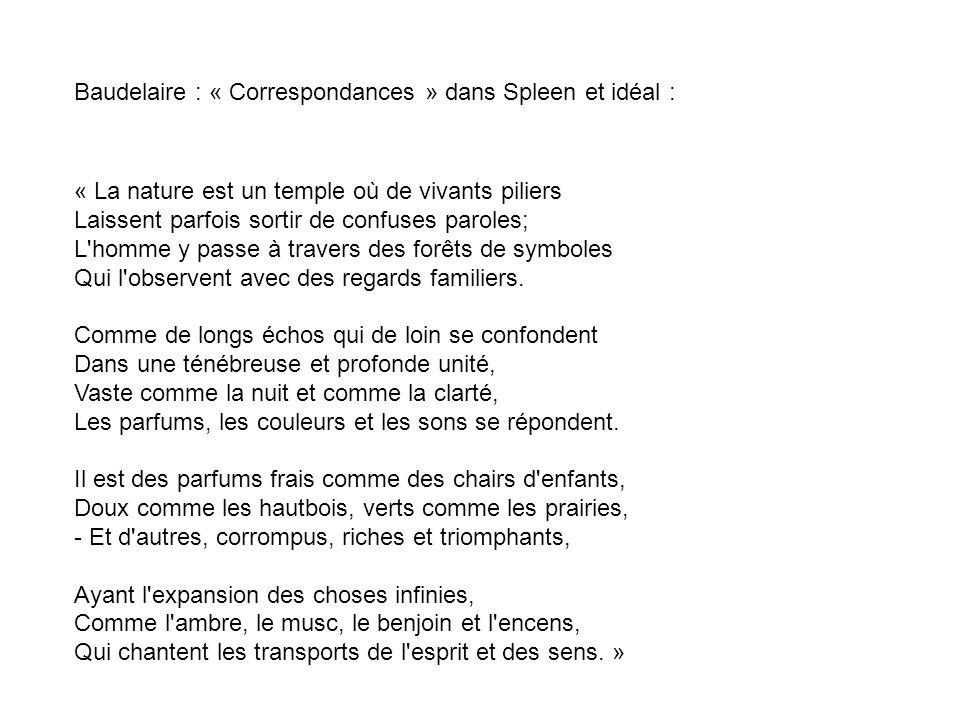 Baudelaire : « Correspondances » dans Spleen et idéal :