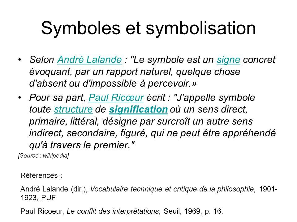 Symboles et symbolisation