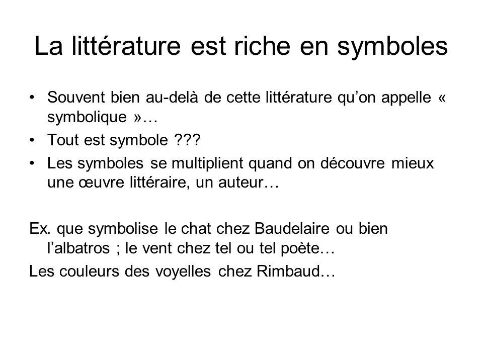 La littérature est riche en symboles