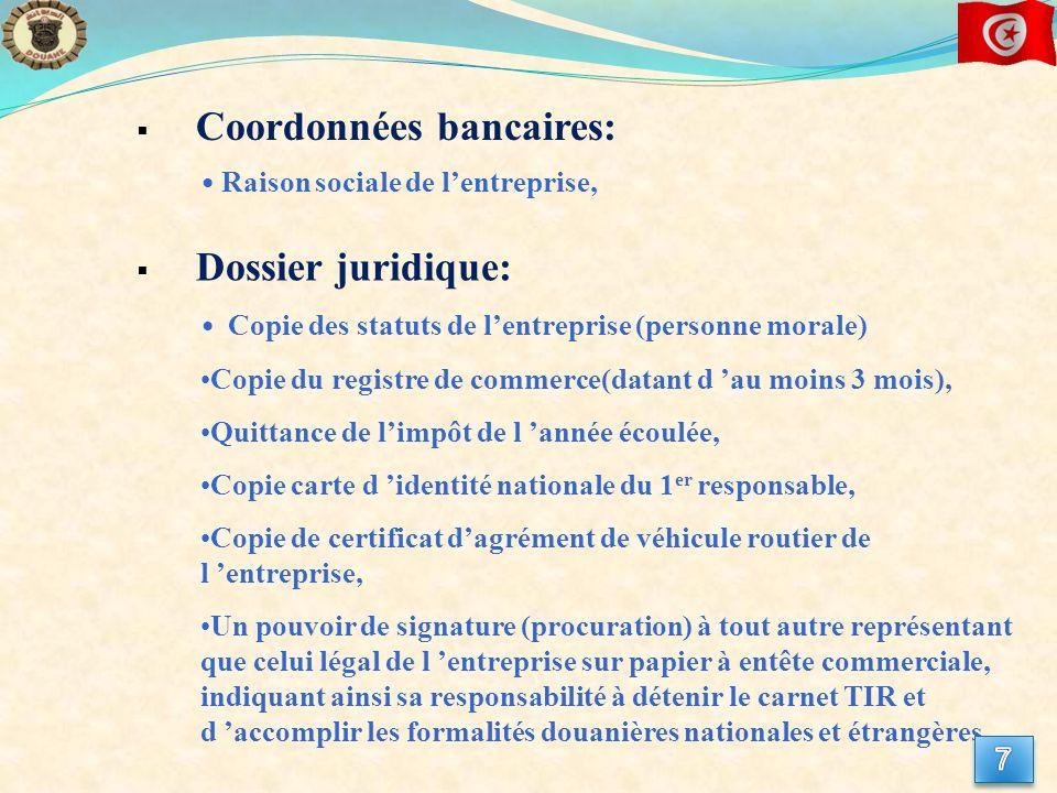 Coordonnées bancaires: