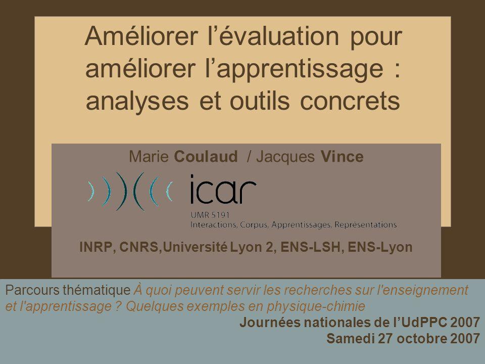 INRP, CNRS,Université Lyon 2, ENS-LSH, ENS-Lyon