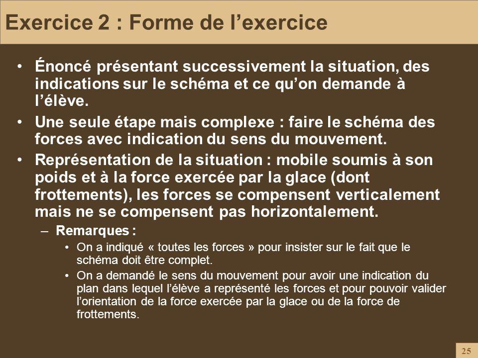 Exercice 2 : Forme de l'exercice