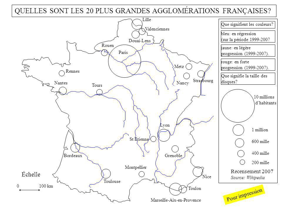 QUELLES SONT LES 20 PLUS GRANDES AGGLOMÉRATIONS FRANÇAISES