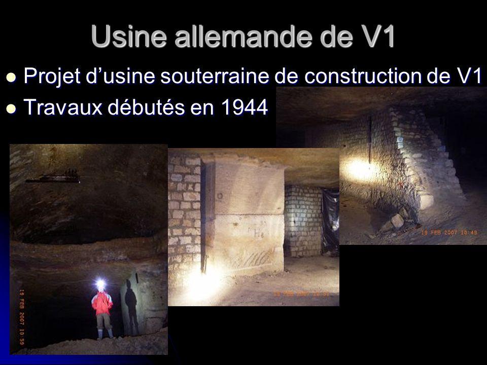 Usine allemande de V1 Projet d'usine souterraine de construction de V1
