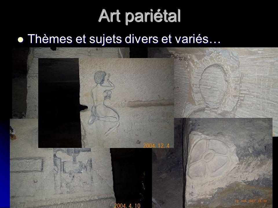 Art pariétal Thèmes et sujets divers et variés…
