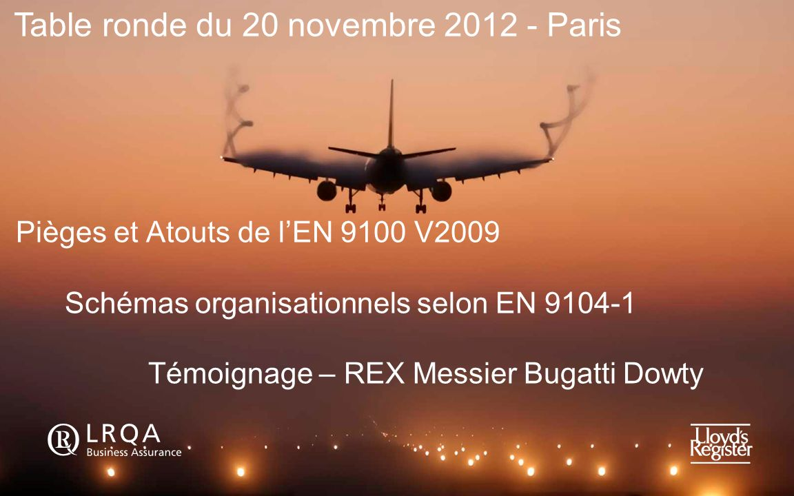 Table ronde du 20 novembre 2012 - Paris