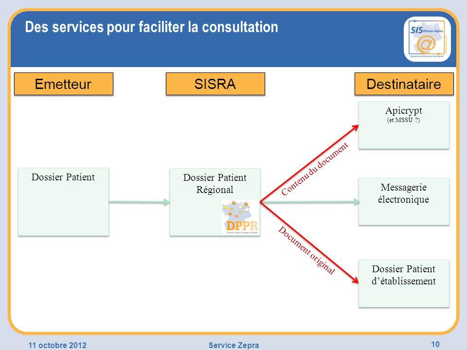 Des services pour faciliter la consultation