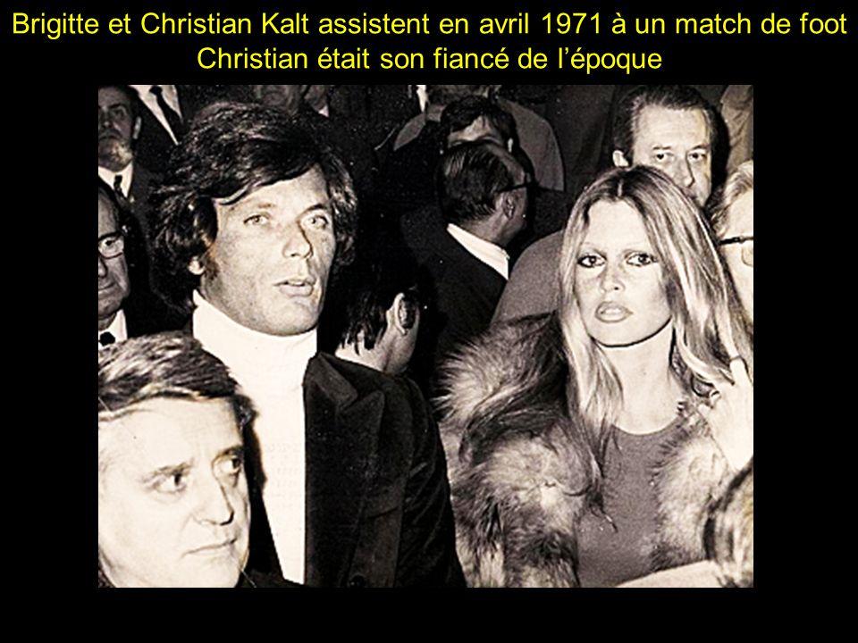 Brigitte et Christian Kalt assistent en avril 1971 à un match de foot