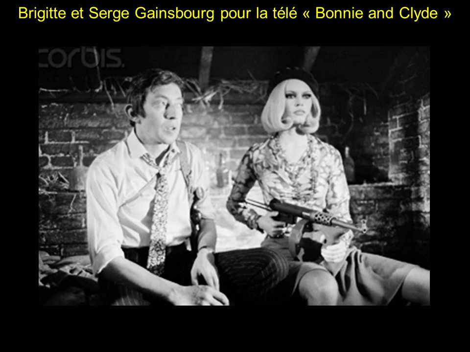 Brigitte et Serge Gainsbourg pour la télé « Bonnie and Clyde »