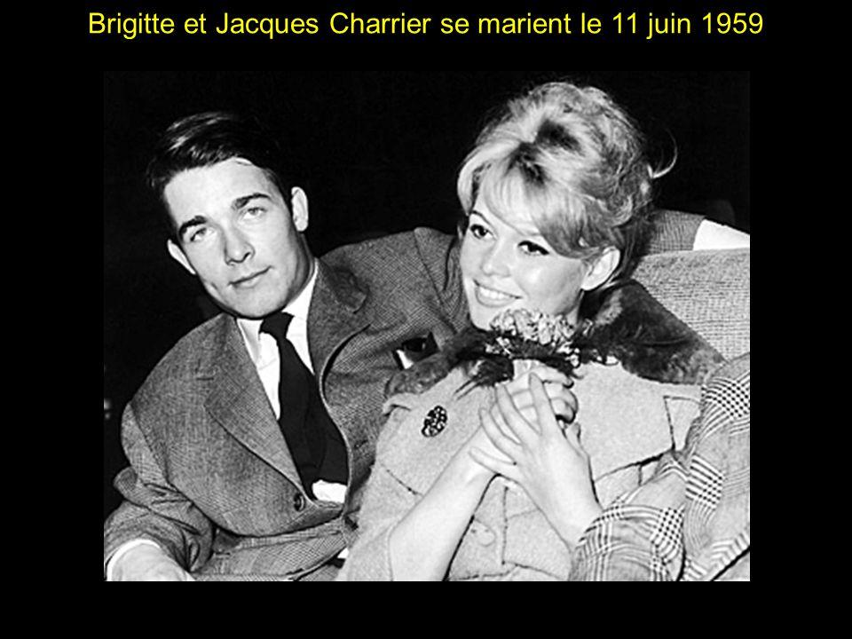 Brigitte et Jacques Charrier se marient le 11 juin 1959