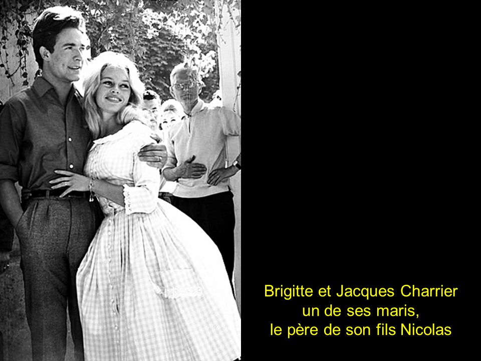 Brigitte et Jacques Charrier un de ses maris,