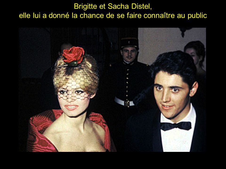 Brigitte et Sacha Distel,