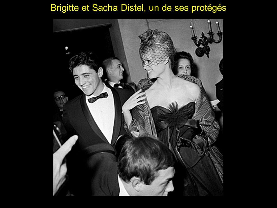Brigitte et Sacha Distel, un de ses protégés