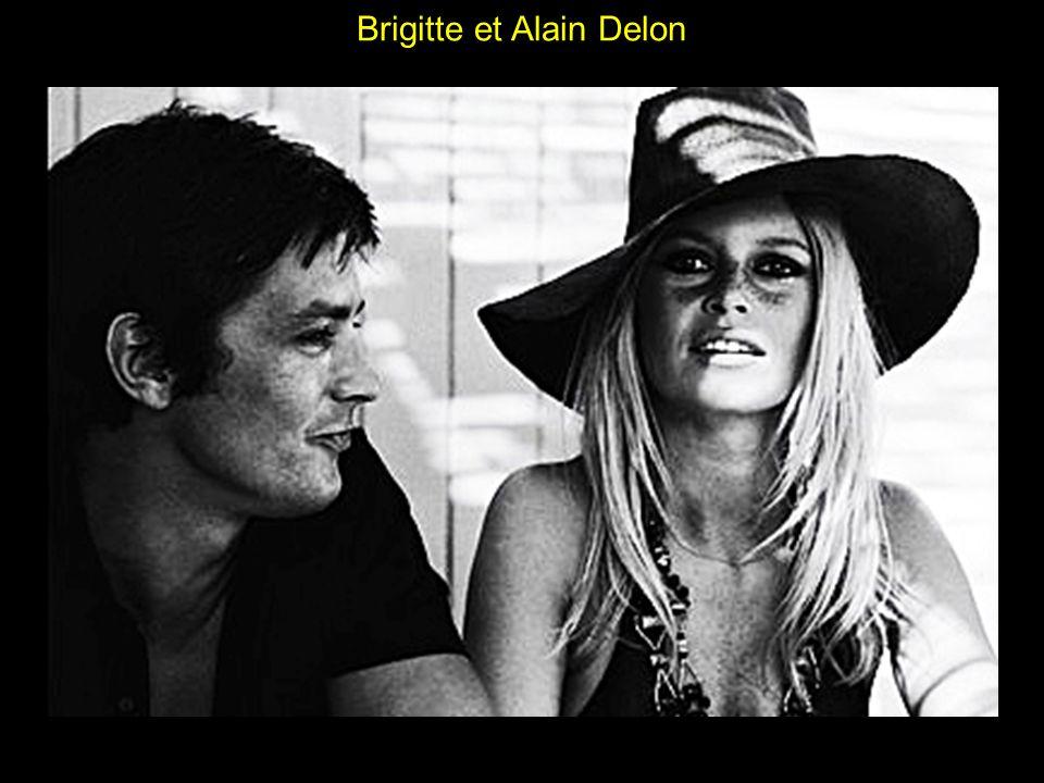 Brigitte et Alain Delon