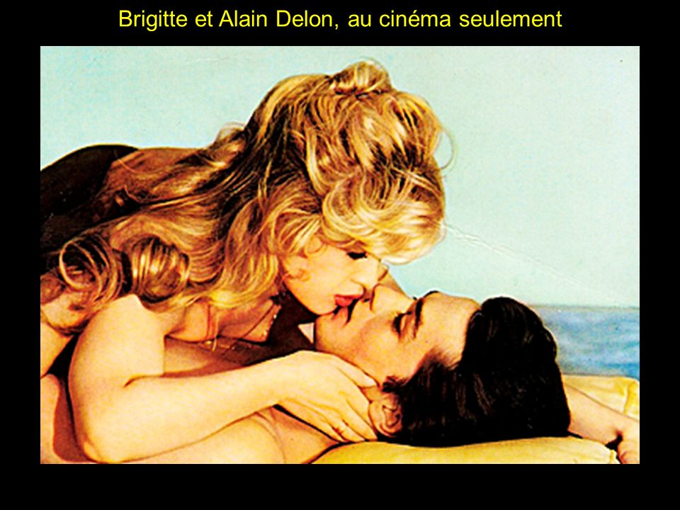 Brigitte et Alain Delon, au cinéma seulement