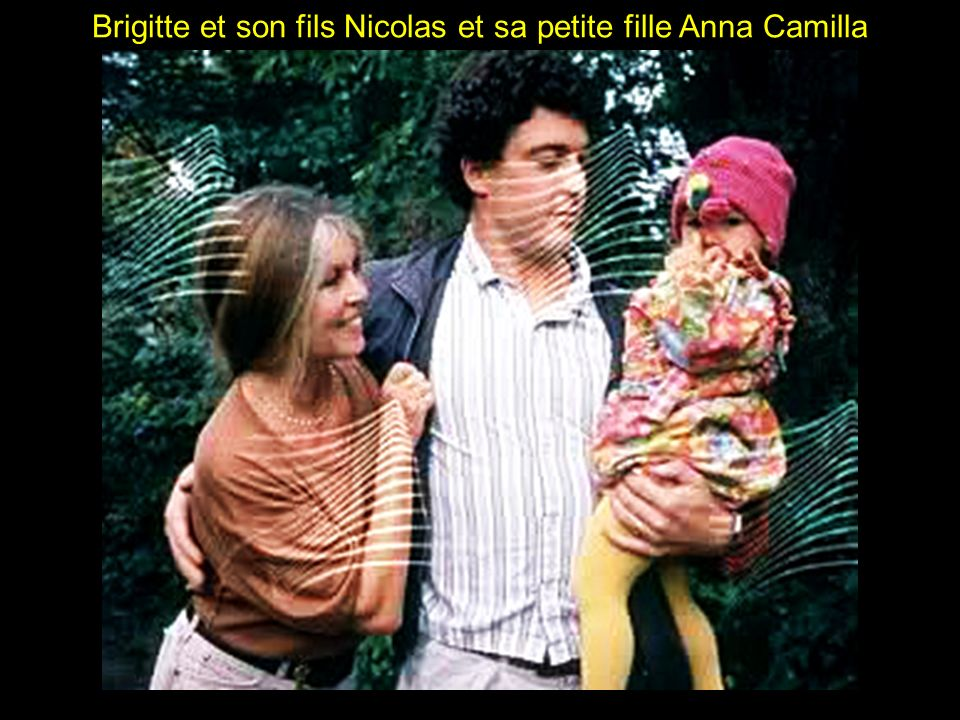 Brigitte et son fils Nicolas et sa petite fille Anna Camilla