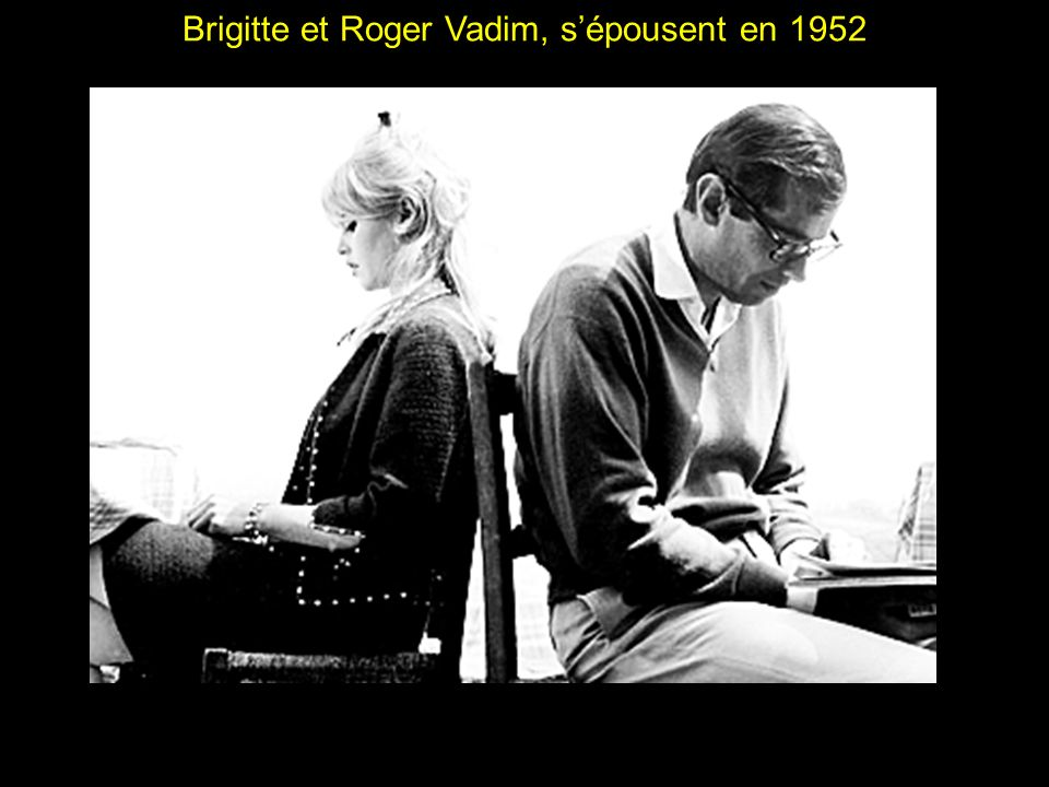 Brigitte et Roger Vadim, s'épousent en 1952