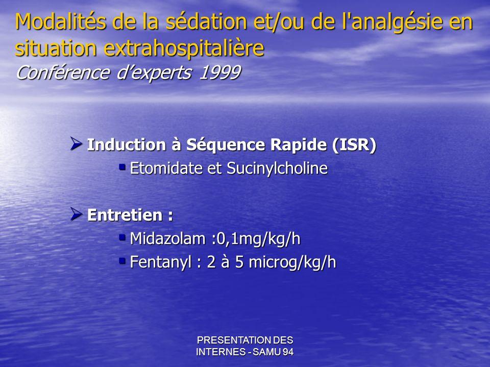 PRESENTATION DES INTERNES - SAMU 94