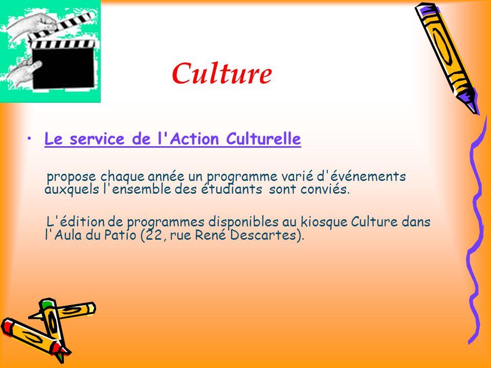 Culture Le service de l Action Culturelle