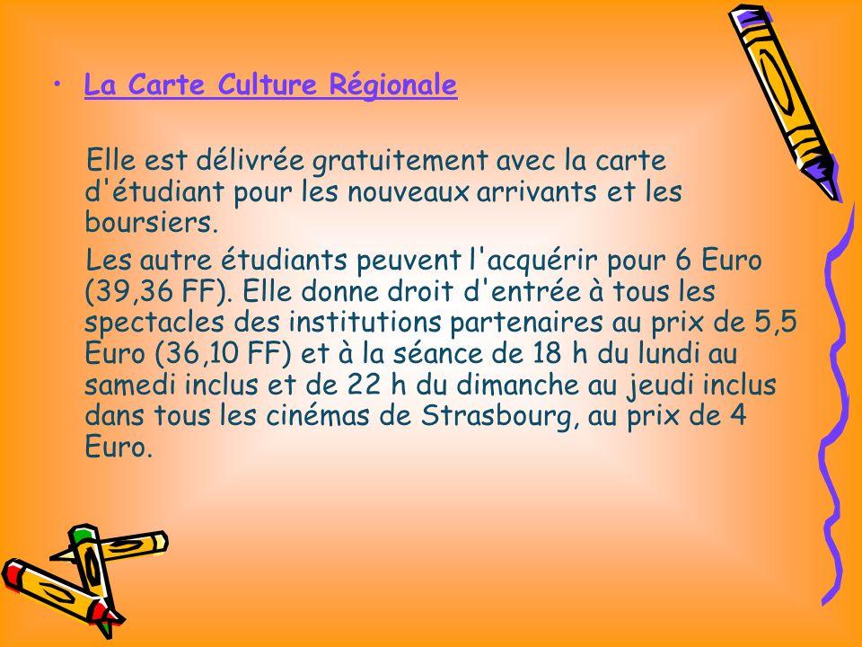 La Carte Culture Régionale