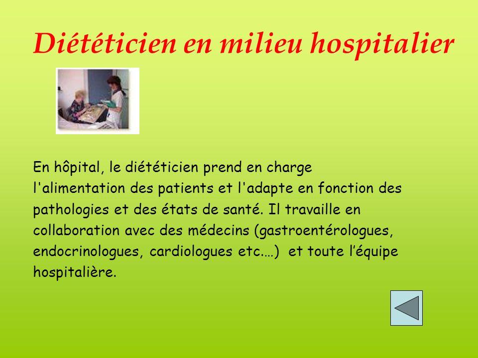 Diététicien en milieu hospitalier