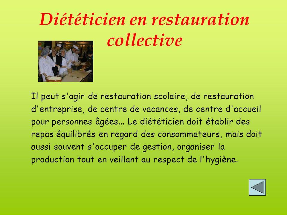 Diététicien en restauration collective