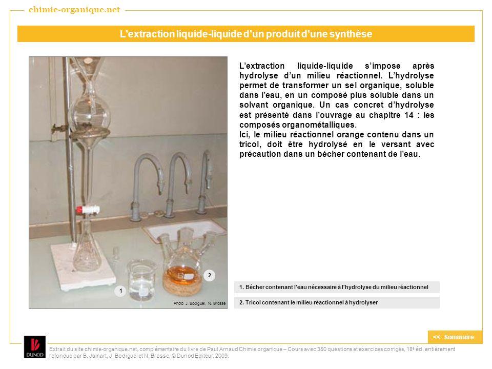 L'extraction liquide-liquide d'un produit d'une synthèse