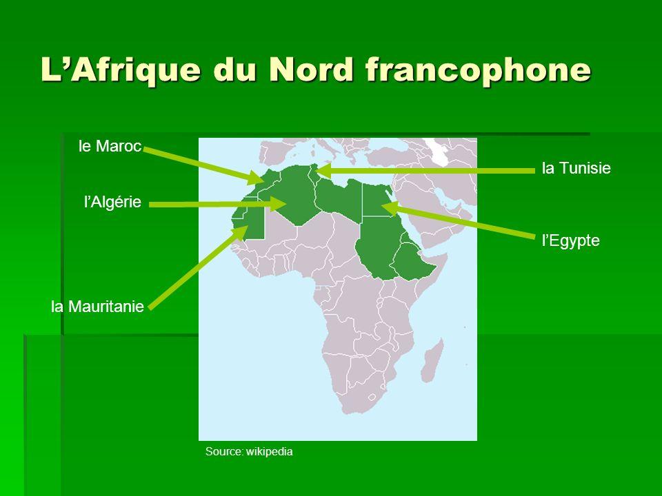 L'Afrique du Nord francophone