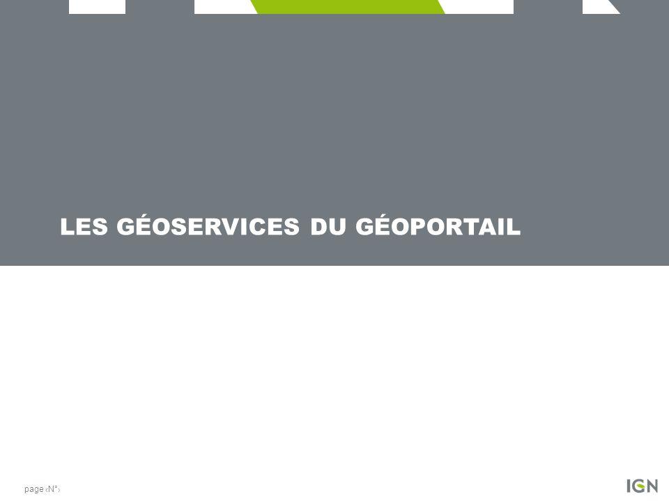 Les géoservices du géoportail