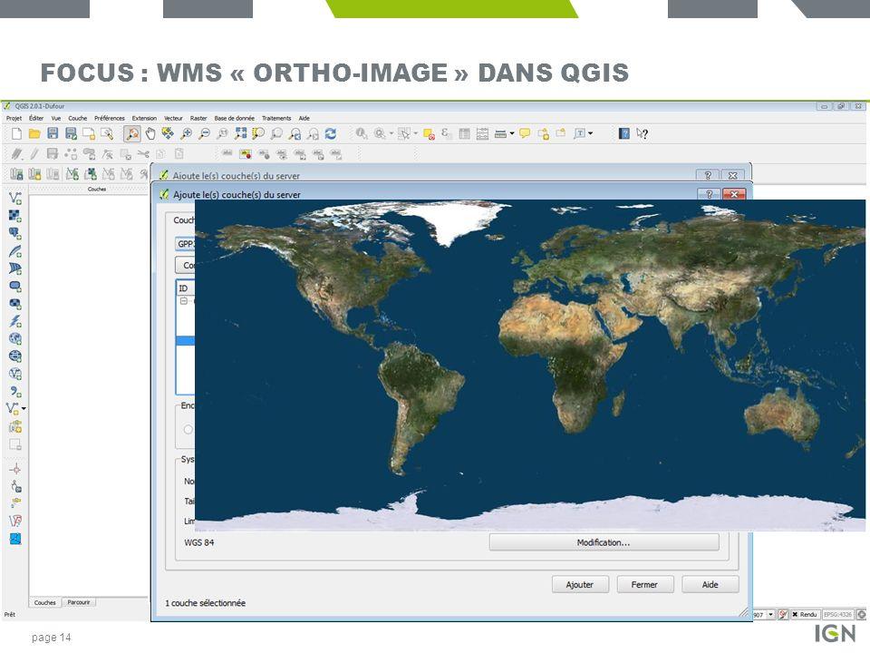 Focus : WMS « Ortho-image » dans QGIS