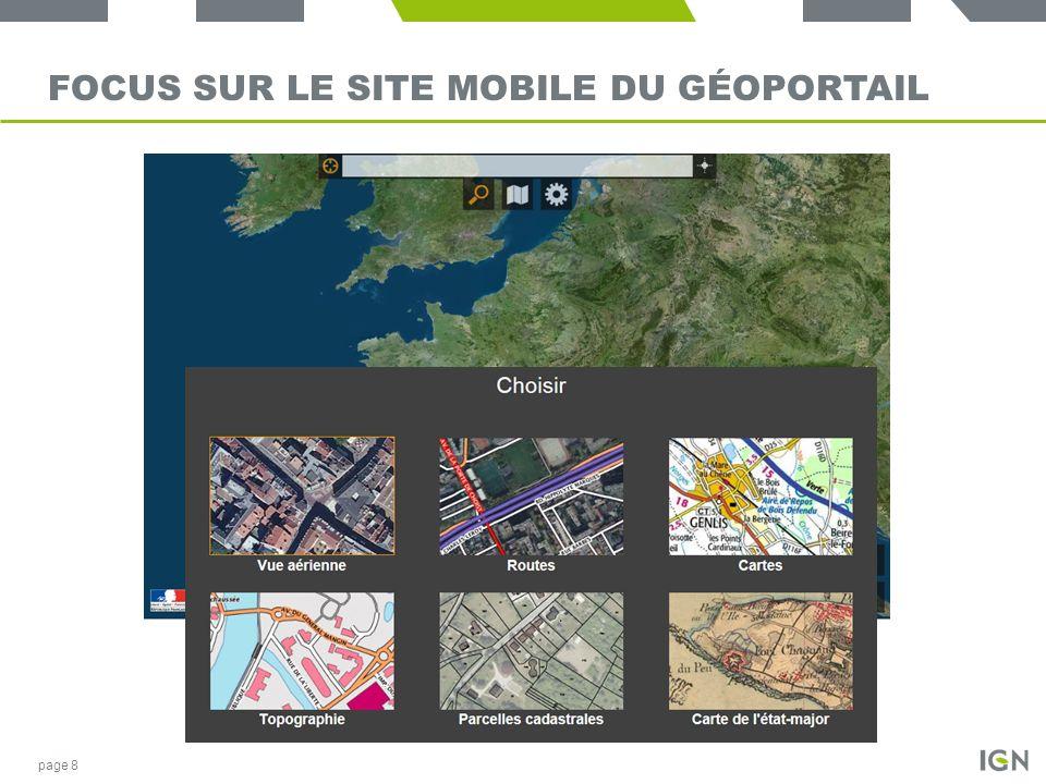 Focus sur le site mobile du Géoportail