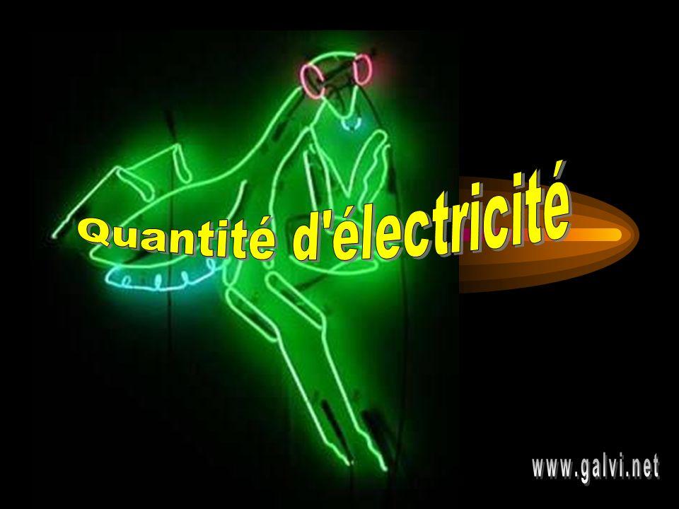 Quantité d électricité