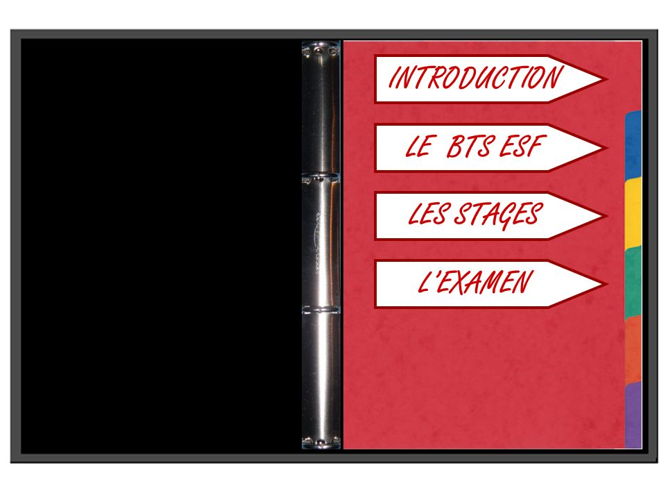 INTRODUCTION LE BTS ESF LES STAGES L'EXAMEN