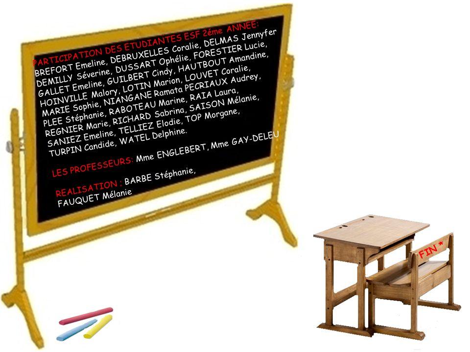 FIN * PARTICIPATION DES ETUDIANTES ESF 2éme ANNEE: