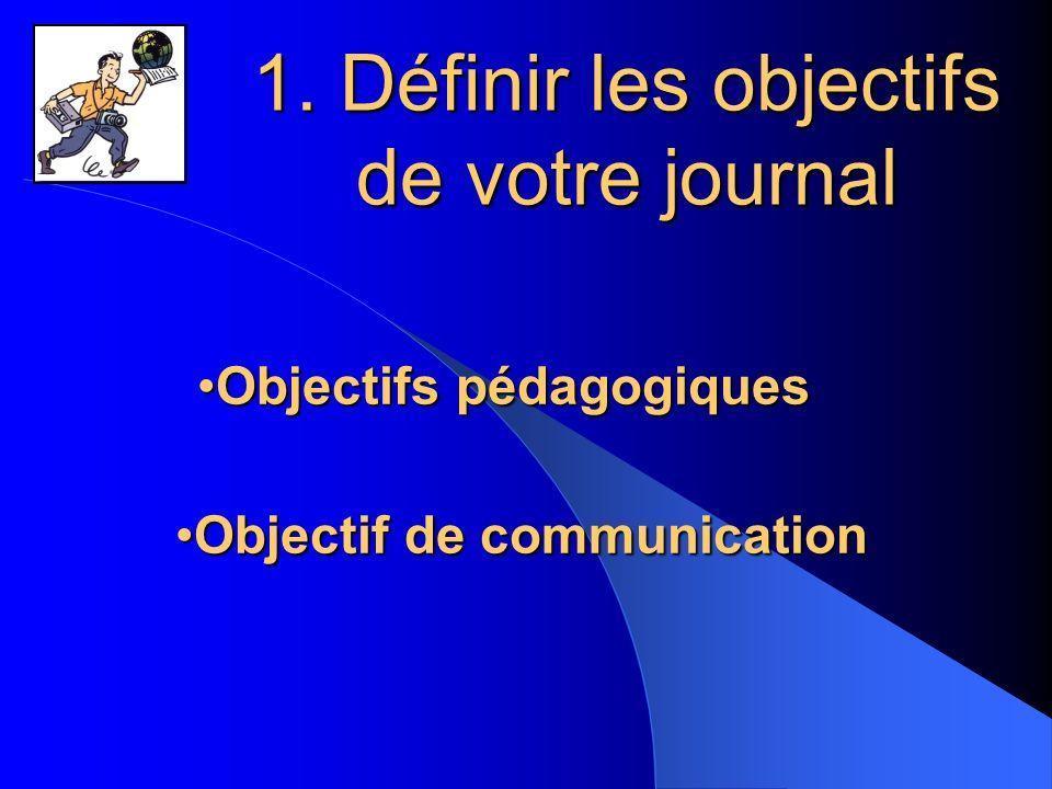 1. Définir les objectifs de votre journal