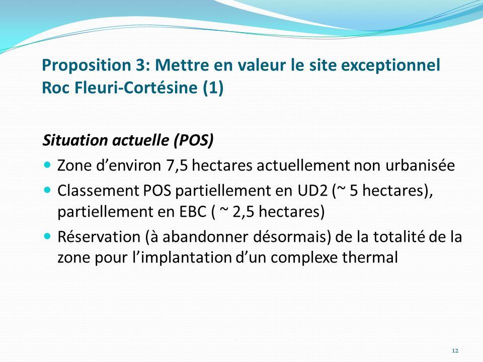 Proposition 3: Mettre en valeur le site exceptionnel Roc Fleuri-Cortésine (1)