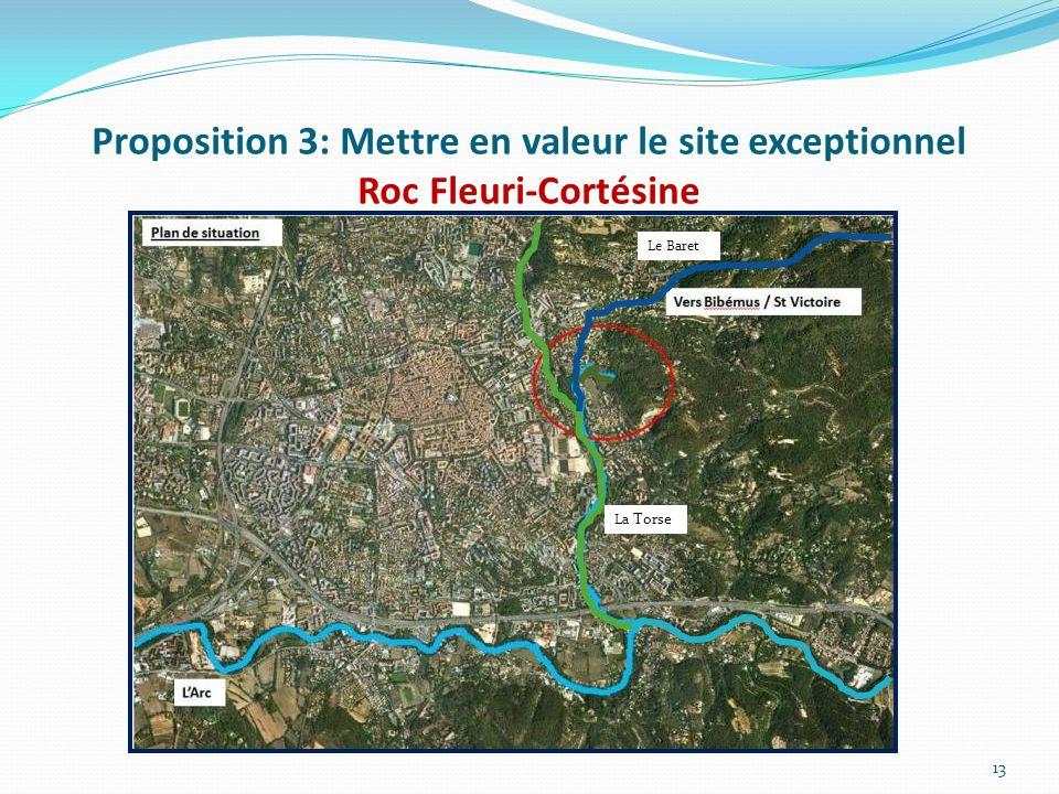 Proposition 3: Mettre en valeur le site exceptionnel Roc Fleuri-Cortésine