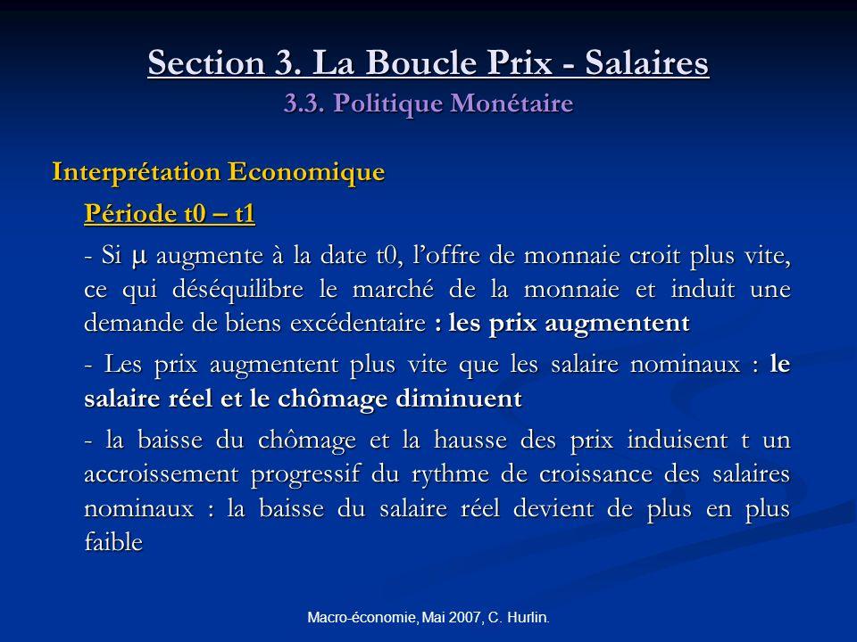 Section 3. La Boucle Prix - Salaires 3.3. Politique Monétaire