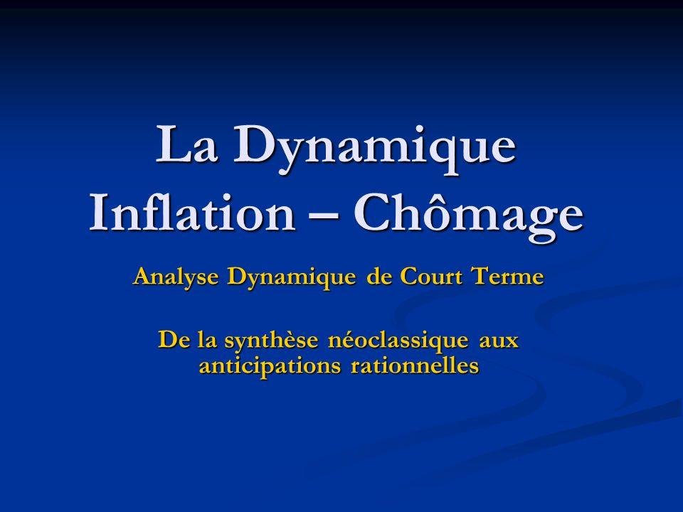 La Dynamique Inflation – Chômage