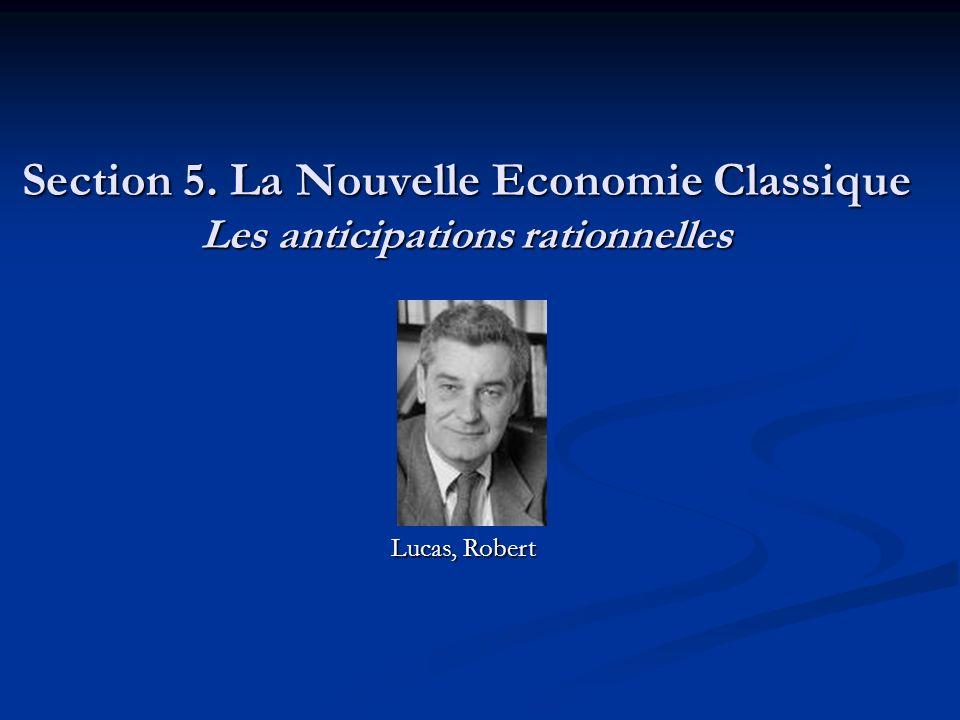 Section 5. La Nouvelle Economie Classique Les anticipations rationnelles