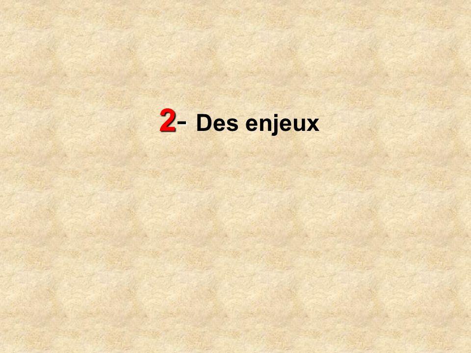 2- Des enjeux