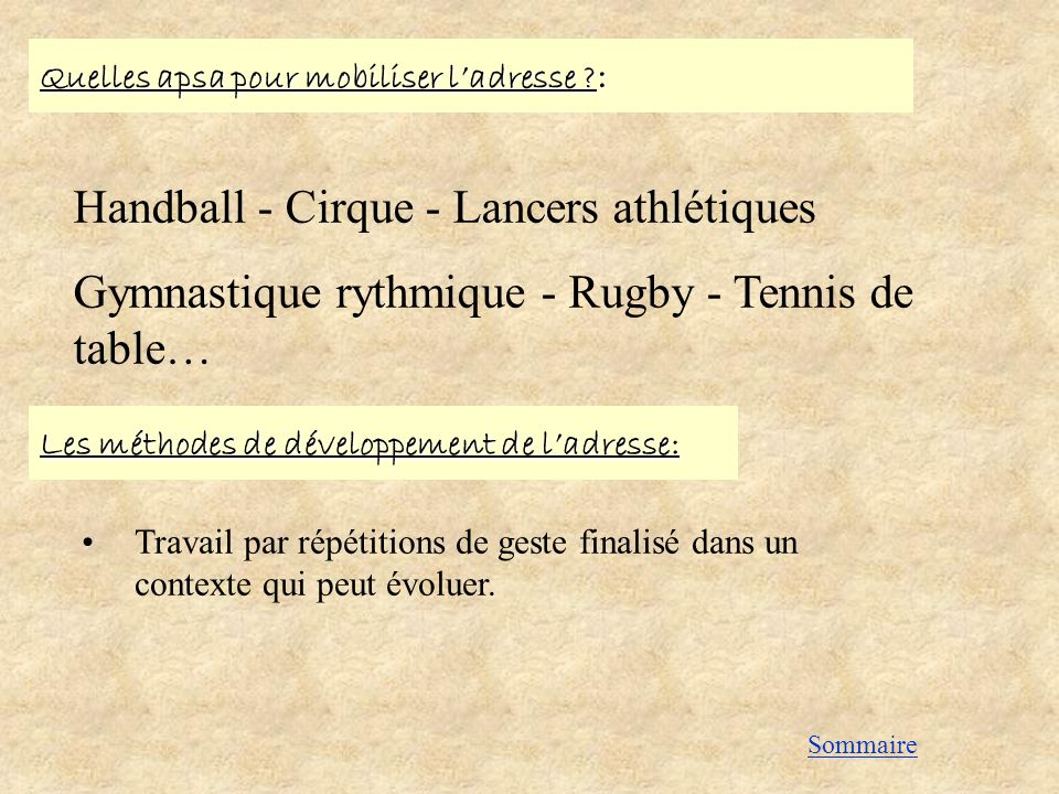 Handball - Cirque - Lancers athlétiques