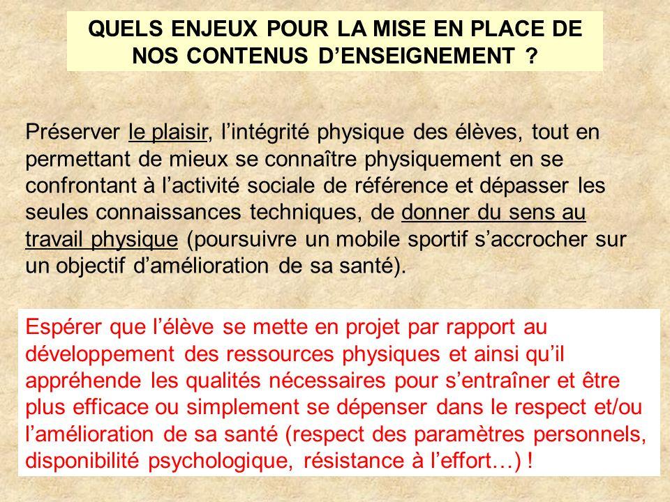 QUELS ENJEUX POUR LA MISE EN PLACE DE NOS CONTENUS D'ENSEIGNEMENT
