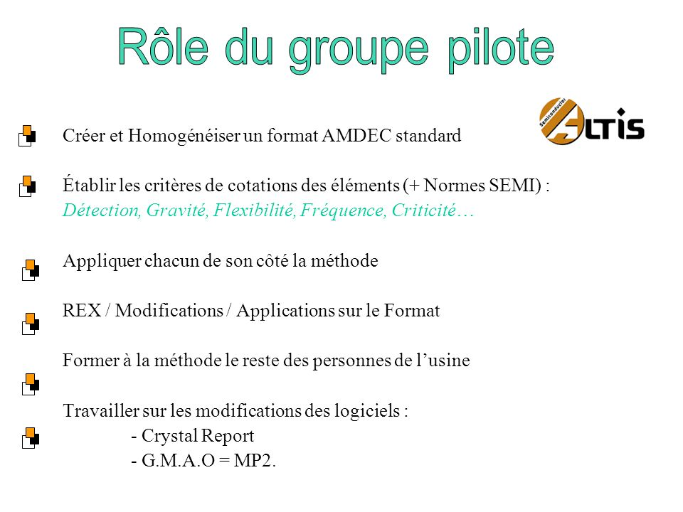 Créer et Homogénéiser un format AMDEC standard
