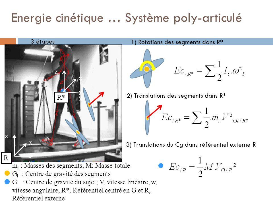 Energie cinétique … Système poly-articulé